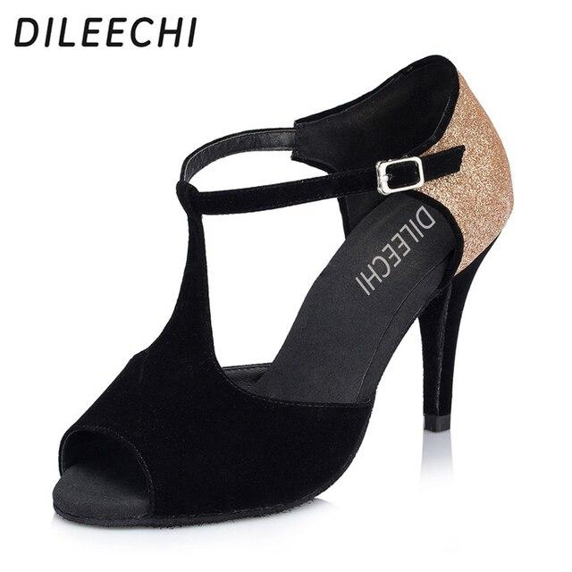 1f9b27cb9 DILEECHI Women Latin Dance Shoes Salsa Sandal ballroom dancing shoes Samba  Tango Modern Dance Shoes High Heels 6/7.5/8.5/10 cm