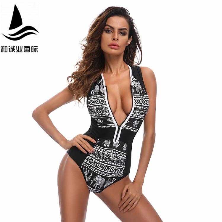Sports & Entertainment Ishowtienda Women Curve Appeal Dashiki African Printing Push-up Bikini Jumpsuit Stroje K Pielowe Damskie Swimming
