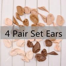 Blyth кукла смолы материал 5 кожа желобки уши для 12 дюймов 1/6 кукла, ледяной, Jessi пять BJD