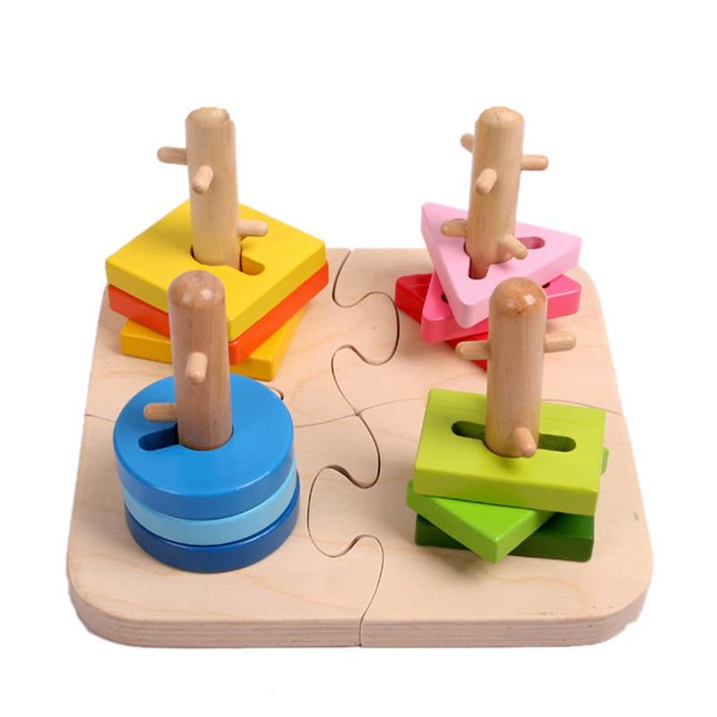 ELC עץ גיאומטרי הרכבת סדרן צעצועים - צעצועים בנייה