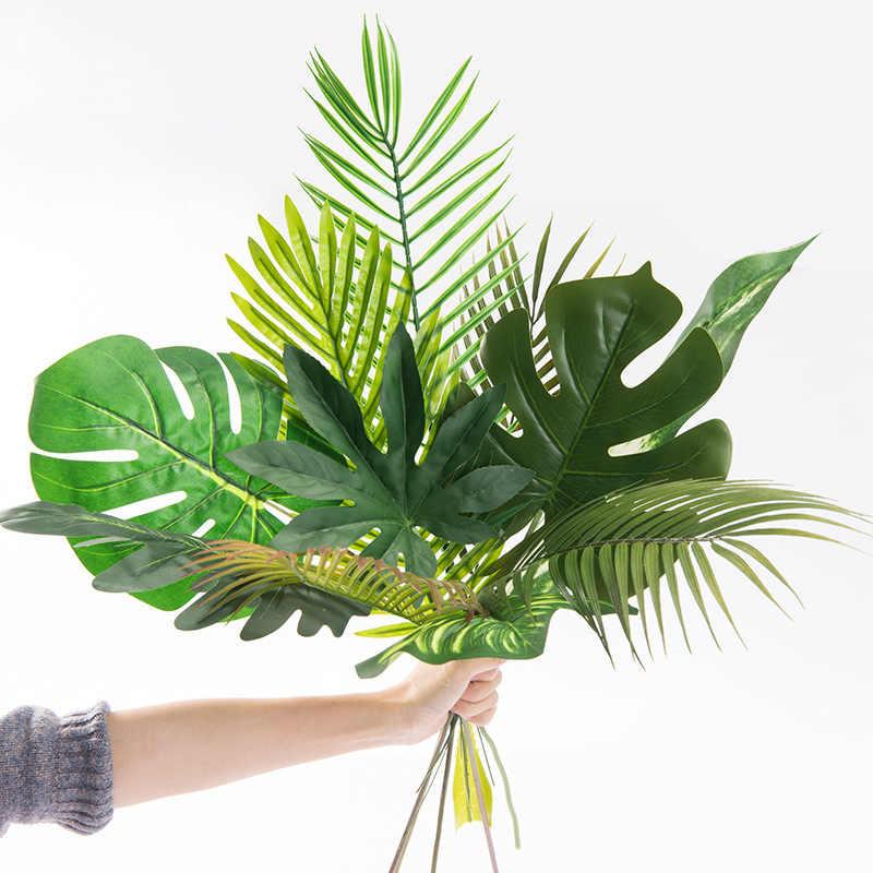 Maison jardin décoration artificielle plastique Monstera feuilles palmier feuilles photographie bricolage accessoires faux plantes