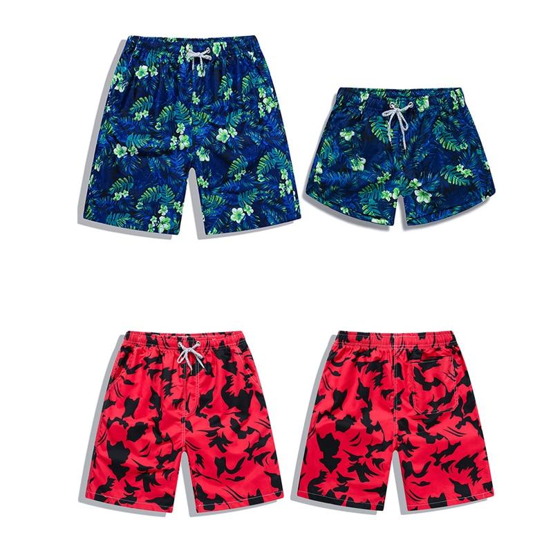 New Beach Shorts Men Women Printed Couple Swimwear Quick Dry Elastic Swim Trunks Surf Summer Swimming Briefs Men Casual Shorts 5