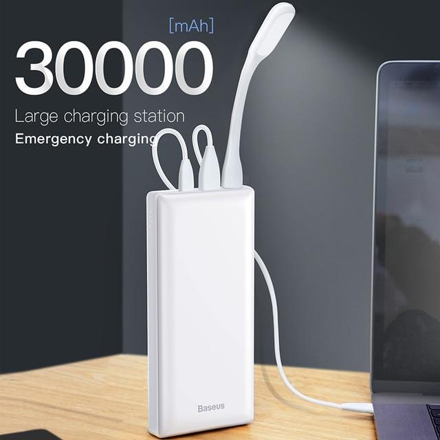 Baseus Power Bank 30000mAh Powerbank USB C Fast Poverbank For Xiaomi iPhone 12 Pro Portable External Battery Charger Pover bank 2