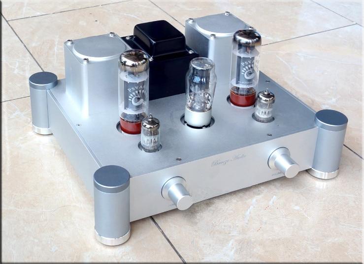 EL34 10*2W Class A vacuum tube amplifiers Aluminum alloy HIFI EL34 tube amplifier Single-ended Class A Tube Amplifier стоимость