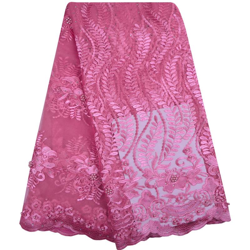 Best Quality African Lace Fabric Swiss Voile Lace High Quality Embroidery French Mesh 2018 Nigeria Lace