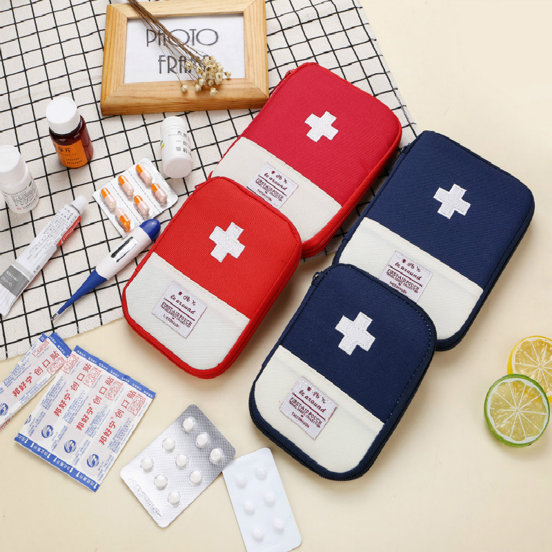 1PC Easy to Store Portable Outdoor Travel First Aid kit Medicine bag Home Small Medical box Emergency Survival Pill Case S L in Storage Bags from Home Garden