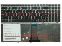 High Quality Laptop Keyboard For Lenovo Ideapad Z50 70 US Layout Silver Frame Without Backlit 100