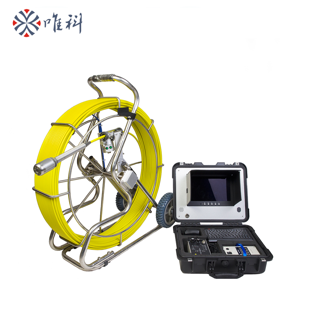 Vicam AHD 100mts Dia 9mm waterproof pipe inspection camera with 40mm self level image camera and
