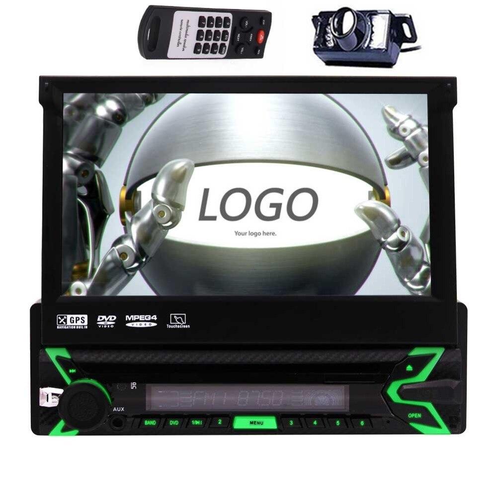 1DIN lecteur DVD de voiture Bluetooth intégré GPS Radio HD 1080 P USB Port SD Slot répertoire de direction contrôle de roue plusieurs langues