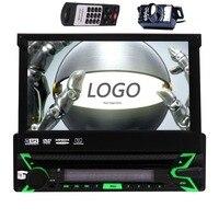 1DIN Car DVD Player Bluetooth Built in GPS Radio HD 1080P USB Port SD Slot Phonebook Steering Wheeling Control Multiple Language