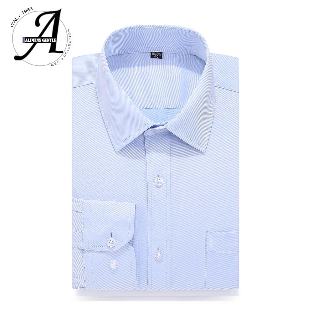 Plus Size Dress Shirt Men Long Sleeve Brand New Big Size Striped Shirts Male Social 8XL 7XL 6XL 5XL Solid Color Men Clothes 2018