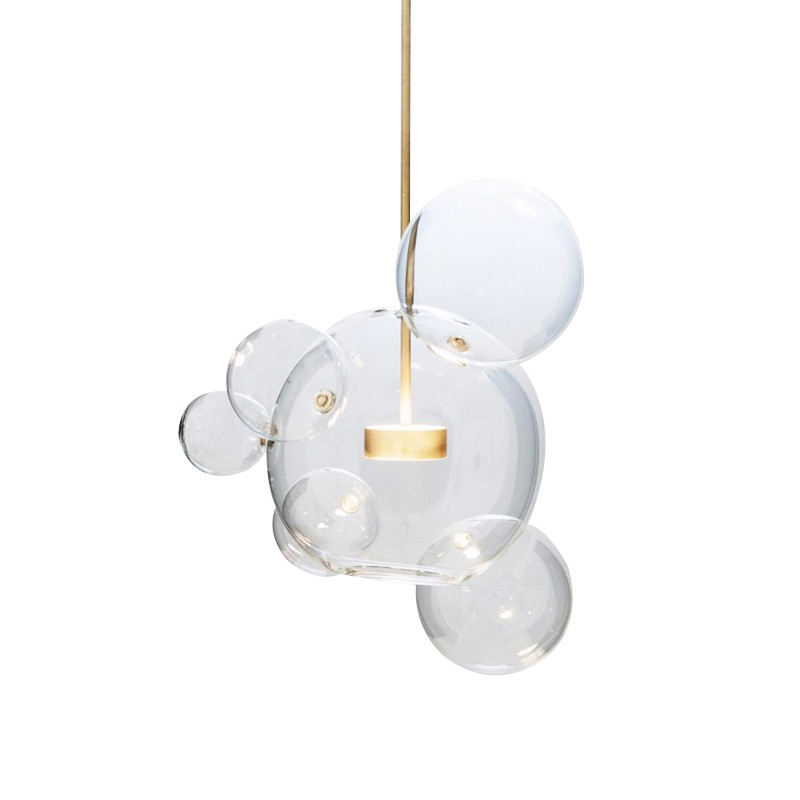 Modern Pendant Lamp LED Glass Bubble Pendant Lights Kitchen Fixture lighting suspension luminaire hanglamp for high ceiling