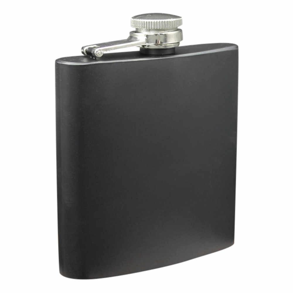 ポータブルステンレス鋼ポケットヒップフラスコアルコールウイスキー酒スクリューキャップ 2 オンス/3.5 オンス/6 オンスフラゴンボトルヒップフラスコ 1030