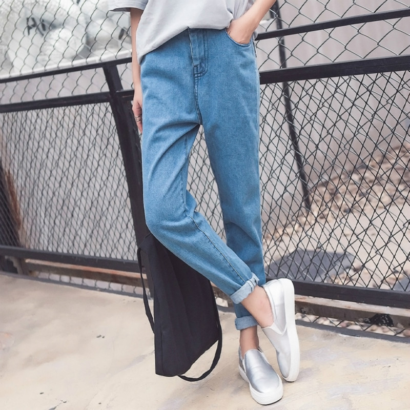 Kesebi 2017 Autumn Winter Fashion Women BF Wind Loose Denim Jeans Female Korean Style High-waisted Harem Pants JE232#920 women jeans autumn new fashion high waisted boyfriend street style roll up bottom casual denim long pants sp2096