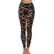 9aa40e288cf New Printed Women Halloween Leggings Pants Punk Gothic Bats Printed Slim Pants  Plus Size(China