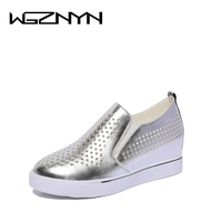 WGZNYN 2018 Summer Autumn Platform Wedge Heel Sneakers Women Shoes with Increased Platform Sole Female Fashion Zapatillas Mujer