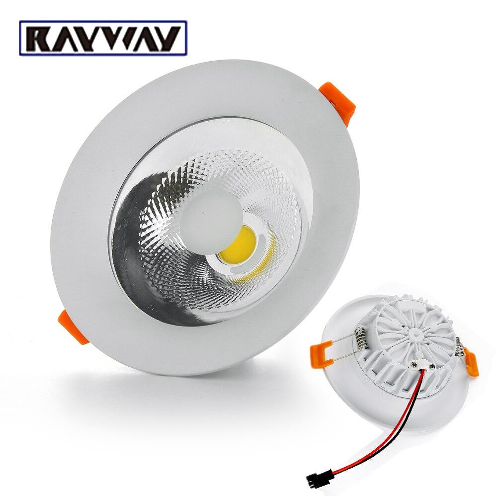 RAYWAY Dimmable 5 W 7 W 10 W 15 W 20 W 25 W LED COB Plafond dans la lumière AC85-265V Encastré COB Spot LED Plafond Lampe Éclairage À La Maison