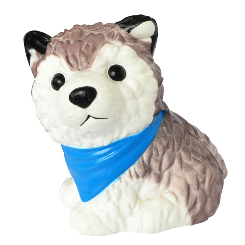 New Kawaii Husky Dog Clever Simulated Animal Slow Rising Soft Squeeze Toy Stress Relief Scented Funny For Kid Christmas Gift
