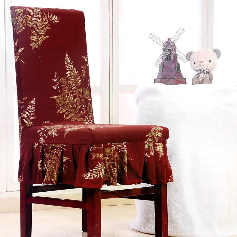 Elactic estiramiento fundas para sillas conjunto impreso for Fundas asiento sillas comedor