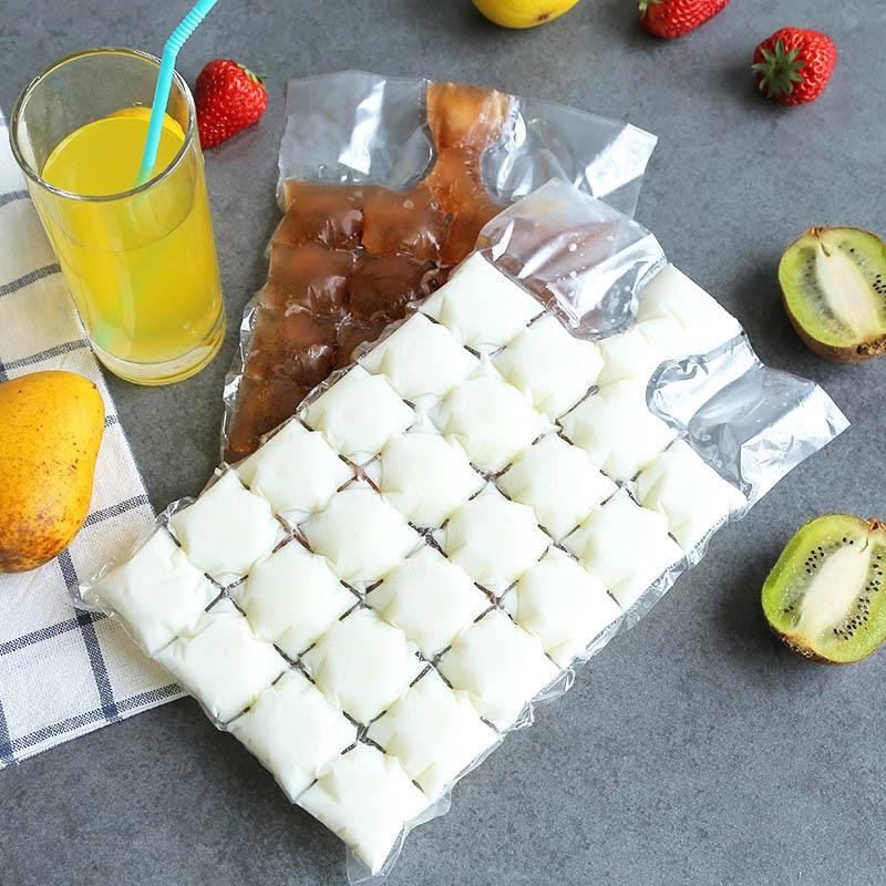 10Pcs Clear Disposable Ice Bag  Fridge Freezer Juice Making Ice Cube Bag Plastic