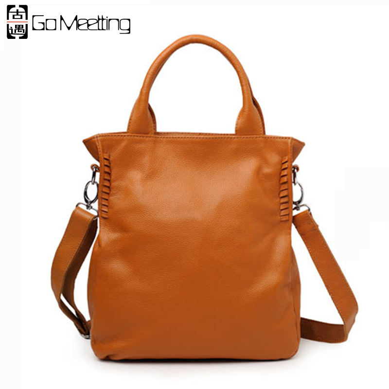 Go Meetting Brand Women Genuine Leather Handbag Fashionable First Layer Cowhide Shoulder Bag Crossbody Bags for Ladies WS38 genuine leather women s handbag one shoulder cross body small bags women s brief first layer of cowhide leather messenger bag