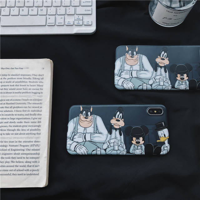 US $2 68 22% OFF Cool Fashion Mouse Friend thief Phone Cases For iPhone XS  XR XS Max X 6 6S 7 8 Plus Line Soft IMD Phone Back Cover Coque-in Phone