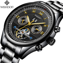 2018 NEW Fashion Stainless Steel Mens Watches Casual Automatic Mechanical Male Waterproof Clock Relogio Masculino