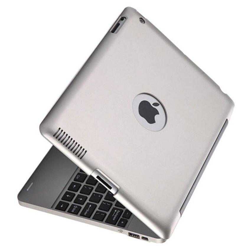 Étui pour clavier bluetooth sans fil multimédia Ultra mince pour iPad 2/3/4 intégré 4000 mAh batterie au Lithium ordinateur portable russe/anglais
