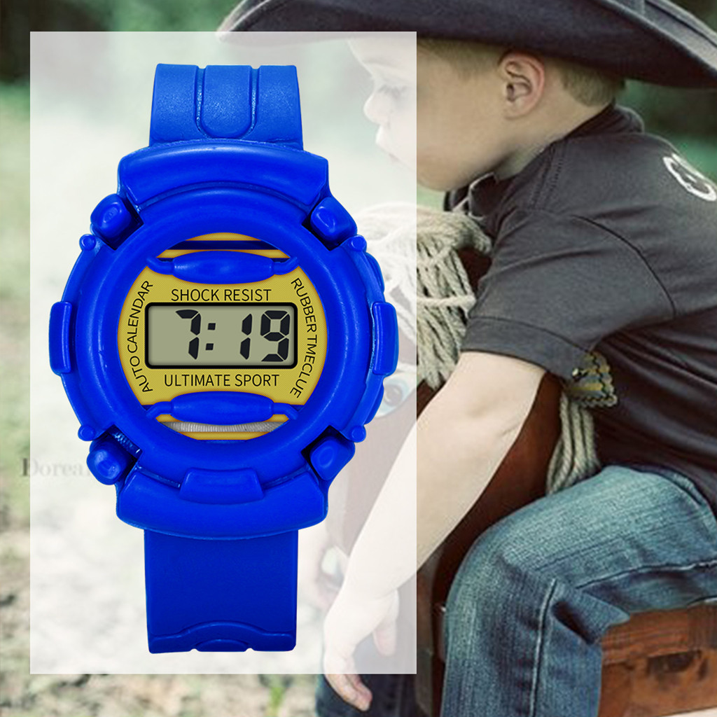 New Kids Watches 30M Waterproof 5 Colors Available Children Digital Sports Wach Durable Boy And Girl Solid Color Outdoor Watches