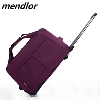 Wheel Luggage Metal Trolley Bags Women's Travel Bag Hand Trolley Bag Travel Suitcase Board Chassis