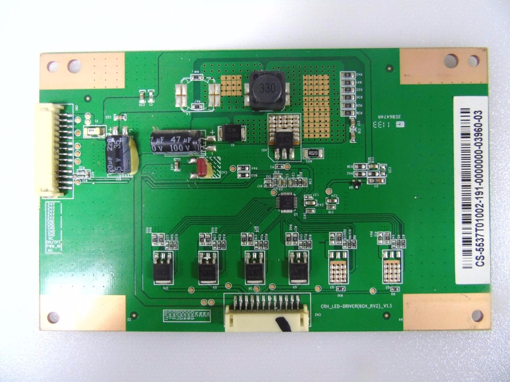 CRH-LED-DRIVER(6CH-RV2)-V1.3 Good Working Tested le32a500g crh led driver v1 4 booster direct replacement used disassemble