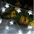 4 M 40 LEDs Con Pilas de la Estrella de Cinco puntas LLEVÓ Navidad Home Party luces de hadas de cuerda Al Aire Libre de Interior Fiesta de navidad uso