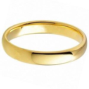 Image 2 - Anillos de boda de carburo de tungsteno para mujer, anillos de oro Vintage de 4mm, alianzas de boda, anillos de compromiso antiguos