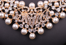 Pearl Statement Necklace and Earrings Wedding Jewelry Sets