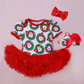 4pcs/lot Sale 2016 Baby Romper Girl Suits Headband 3 Piece Set Infant Clothing Sets;1st Birthday Outfits Lovely Princess Dress