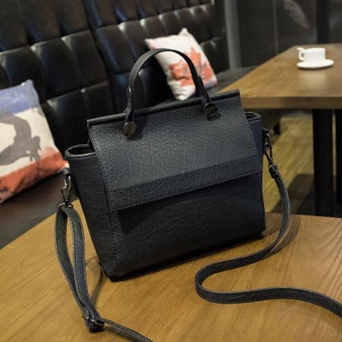 Vintage Trapeze Tote Women Leather Handbags Ladies Party Shoulder Bags Fashion Female Messenger Bags bolsa feminina