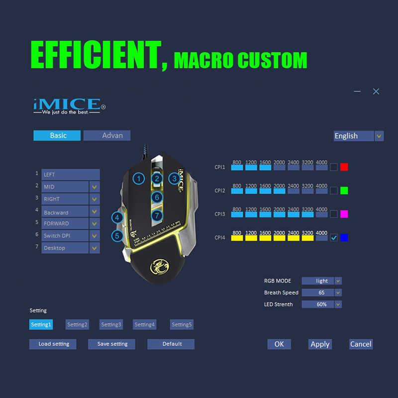 السلكية الألعاب ماوس ماكرو مخصص 7 أزرار 3200 ديسيبل متوحد الخواص ماوس بصري Gamer الملونة الخلفية التنفس الفئران لأجهزة الكمبيوتر المحمول V9