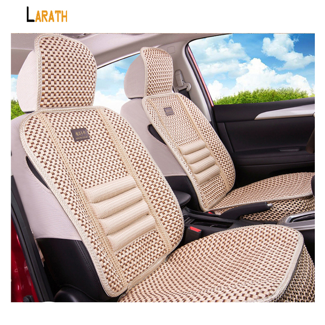 LARATH 1Pcs Simple Design Summer Cooling Fabric Ventilation Auto Car Seat  Covers Protector Chair Cushion For