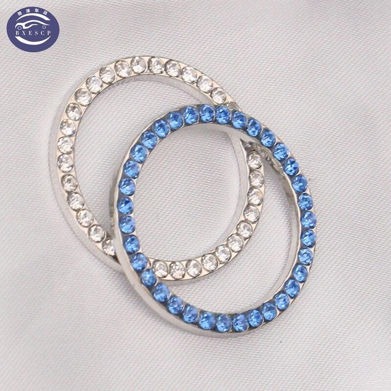 Auto styling, diamant zündschloss abdeckung dekoration aufkleber schutz kreis Für Ford Focus...