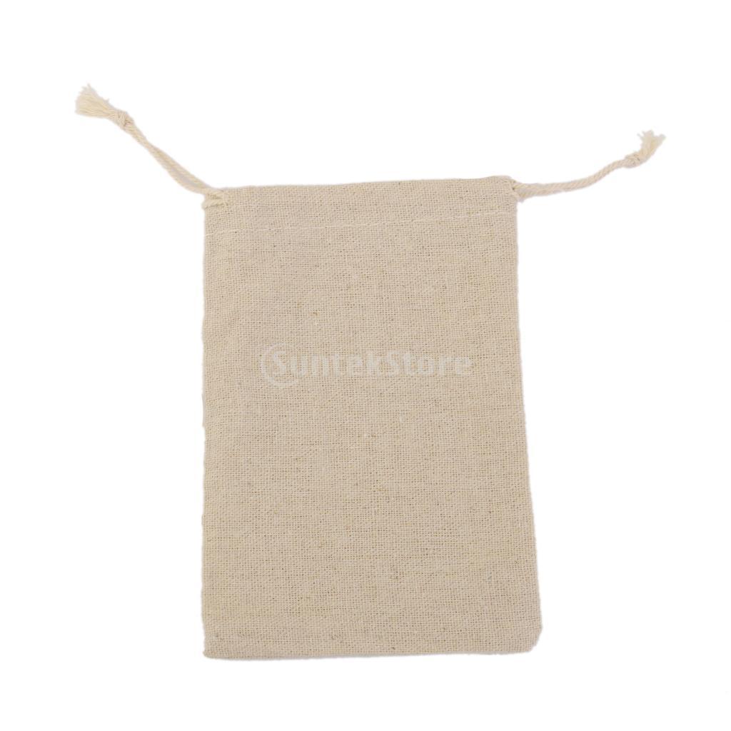 10Pcs Simple Linen Jute Sack Jewelry Pouch Drawstring Gift Bag ...