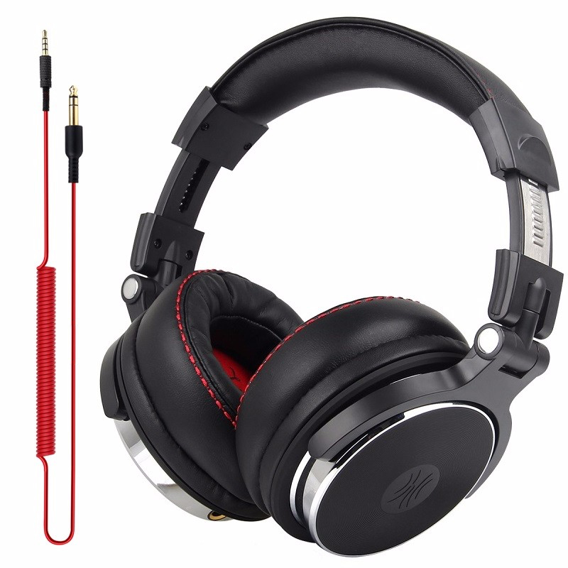 DJ Professional Studio Headphone Monitors DJ Wired Headset Over Ear Studio Headphones Wired Stereo Earphone For Phone Computer