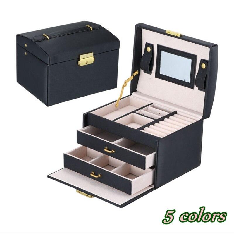 Petite boîte à bijoux collier mallette de rangement Armoire boîte de rangement maquillage organisateur boîte de rangement