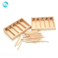 Montessori Educational Wooden Toys For Children Spindle Box With 45 Spindles Mathematics