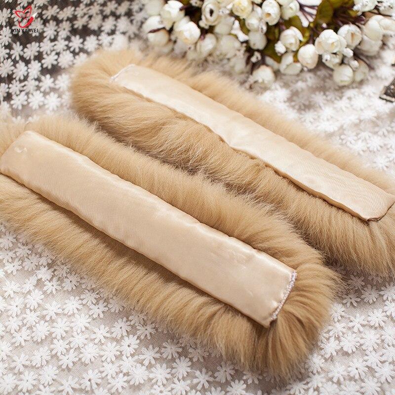 Manchettes de fourrure de renard de haute qualité offre spéciale chauffe-poignet véritable fourrure de renard manchette bras plus chaud dame Bracelet véritable fourrure Bracelet gant HY83L - 6