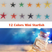 Free Shipping(100pcs/lot)1-2 cm 12 Colors Mini starfish Micro View DIY Classic Source Material Wishing Bottle Decorate