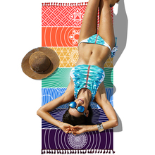 2017 New Colorful India Like echarpe Beach Towel Mandala Blanket rainbow 150x70cm 150x150cm Polyester