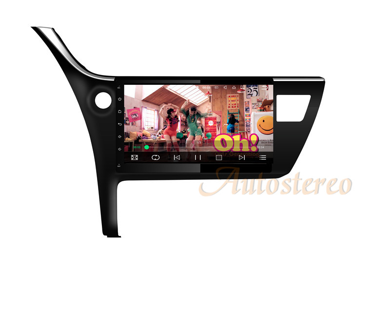 Car GPS Navigation RAM 2GB Android 7.1 DVD Player Multimedia headunit For Toyota Corolla 2017 CPU car stereo