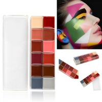12 Colors Face Body Oil Painting Makeup Halloween Party Fancy Dress Makeup Tools With Cosmetic Brush