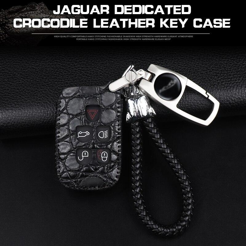 KUKAKEY clé de voiture intelligente à distance pour Jaguar XF XK XKR x-type XE V12 ciseaux de guitare porte-clés en cuir porte-clés porte-clés couverture