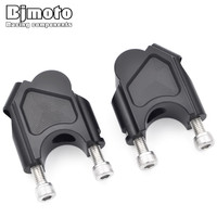 Bjmoto Motorcycle Motorcross Handle Bar Clamps Handlebar Risers For BMW F800GS 2008 2009 2010 2011 2013